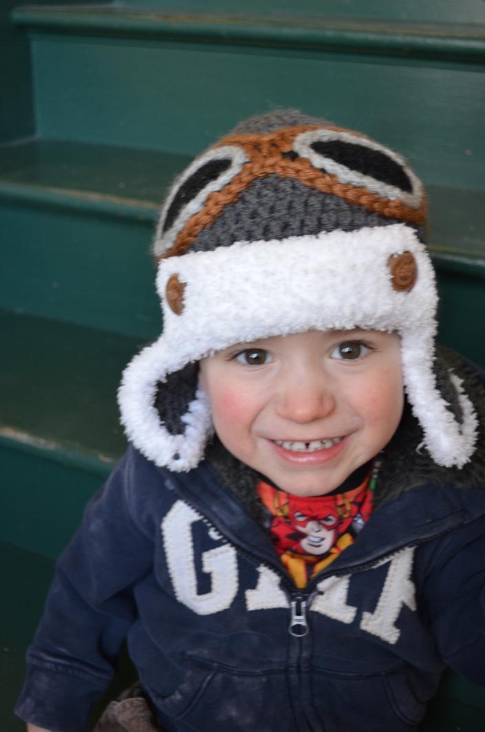Macklan with his pilot hat