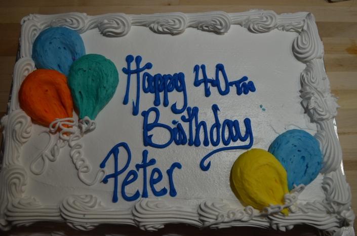 Peter's 40th birthday cake
