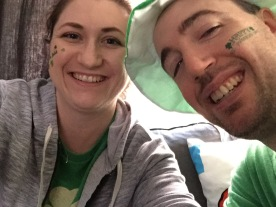 Melissa and Peter St. Patrick's Day 2015 selfie.
