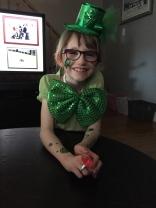 Abby celebrating St. Patrick's Day 2015.