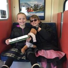 Ava and Abby on the way to the Ballet on the GO Train.