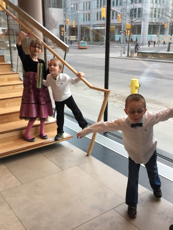 Abby, William, and Aiden at the ballet.