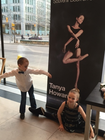 Aiden and Ava at the ballet.