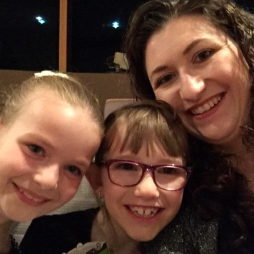 Ava, Abby and Melissa selfie at the ballet