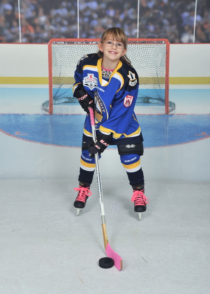 Abby's hockey photo.