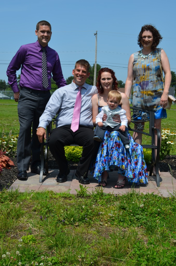 L-R: Christian, Martin, Holly with Jasper and Melissa at the Christening.