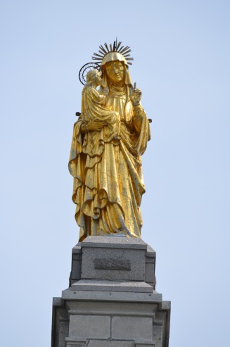 The top of St. Anne de Beaupre Basilica.