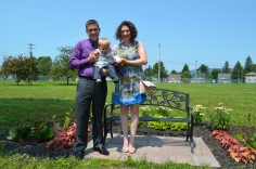 Jasper with his Godparents, Christian and Melissa.