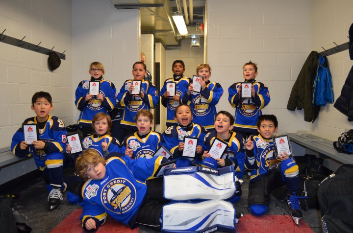 Abby's team celebrating winning the season series.