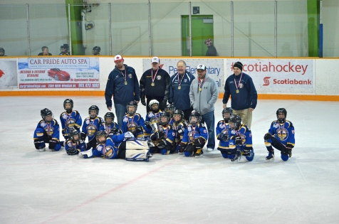 Abby and her team after winning the Gold Medal Championship in the playoffs.