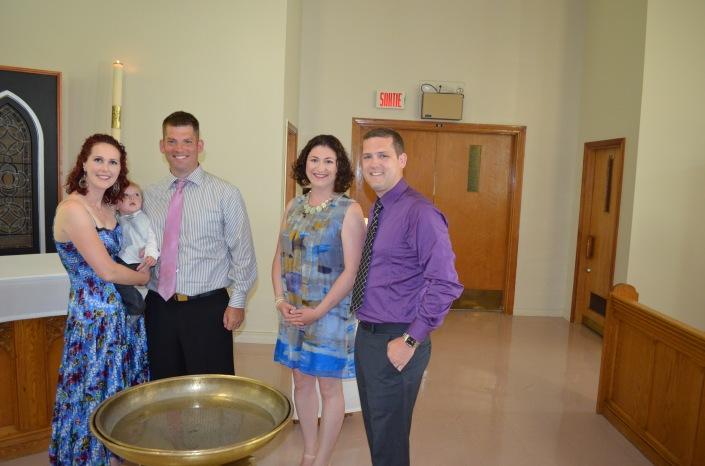 L-R: Holly holding Jasper, Martin, Melissa and Christian.