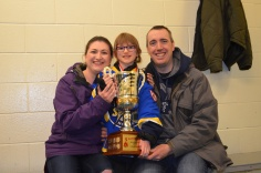 Abby with Mom and Dad and her gold medal trophy!!!