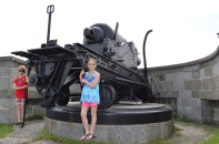Abby and Sage in front of rotating Canon.