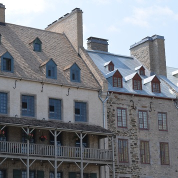 View in Old Quebec. The 'S' hooks at the top were for ladders to put out fires.