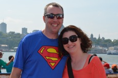 Peter and Melissa on the Ferry