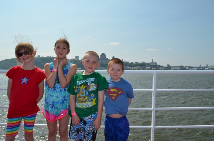 Abby, Sage, Colton and Aiden on the Ferry.
