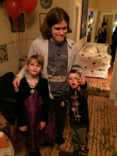 Abby and Aiden with Oren