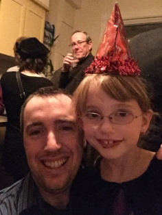 Daddy and Abby selfie in 2015