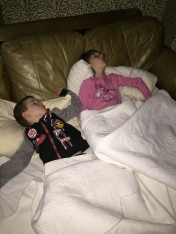Abby and Aiden passed out from a long night of partying :)