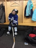 Aiden ready for the game.
