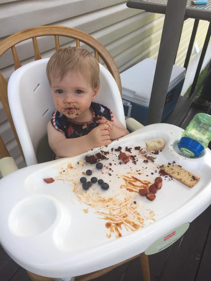Jasper enjoying his Christening cake!!!!
