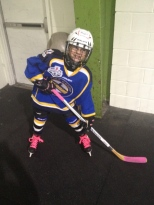 Abby before her first game of the season.