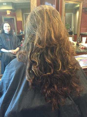Before Shot at Hair Salon