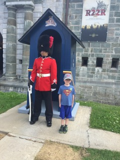 Aiden with the guard at the Citadel