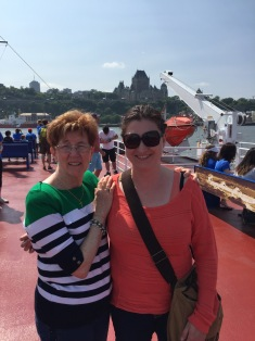 Auntie Cathy and Melissa on the Ferry.