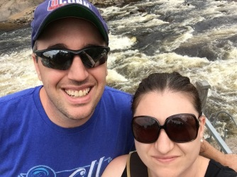 Peter and Melissa at Jacques Cartier River