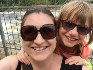 Melissa and Abby selfie at Jacques Cartier river