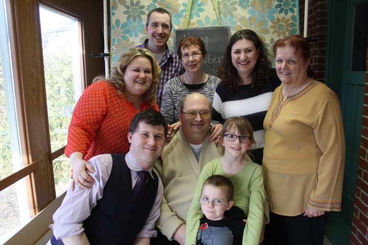 Front (L-R): Shawn, Bruce, Aiden, Abby Back (L-R): Megan, Peter, Jackie, Melissa, Joan