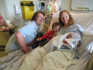 Peter, Julie, Macklan & Eva (1 day old)