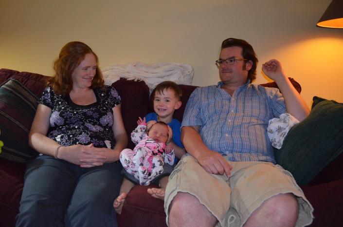 The Allison Family: Julie, Macklan, Evangeline & Peter