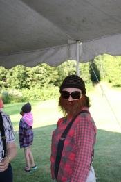 Melissa dressed as a lumberjack