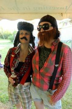 Lumberjack Shauna with Lumberjack Melissa