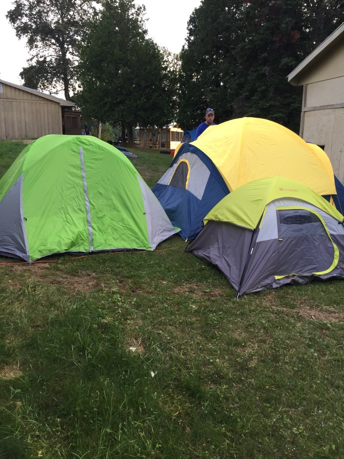 The Cain Family tent village. (The small tent was Marley's)