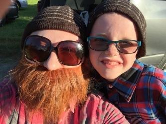 Lumberjack selfie with Melissa and Aiden