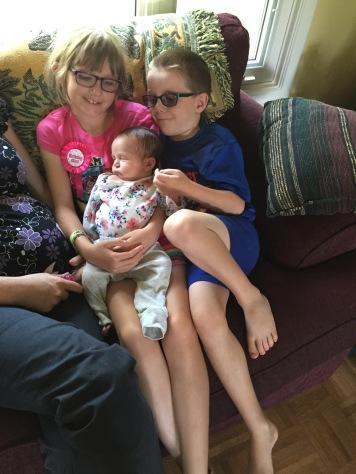Abby & Aiden with Eva