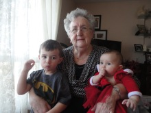 Mom hanging out with Macklan and Eva