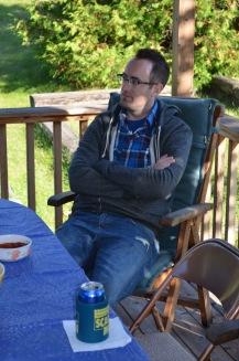 Rob visiting with Jason