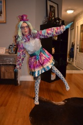 Abby dressed up as a character from Ever After High