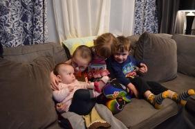 L-R: Eva, Aiden, Abby, Macklan