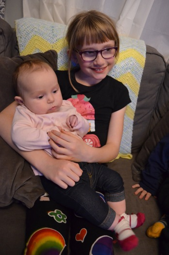 Abby with her cousin Eva.