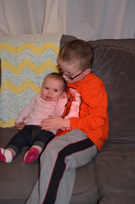 Aiden with her little cousin Eva