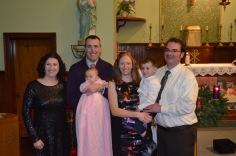L-R: Melissa, Peter holding Eva, Julie holding Macklan, Peter