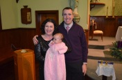 Peter, Melissa and Eva (wearing Abby's baptism dress)