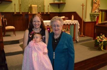 3 generations of women: Mom, Julie & Eva