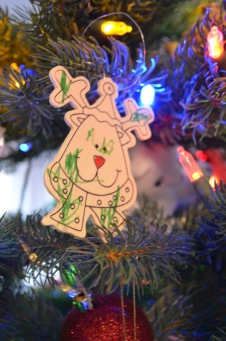Christmas Decorations given Aiden by Macklan in 2015
