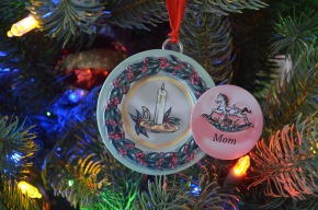 Peter gave this to Melissa in 2006, her first Christmas with Abby.